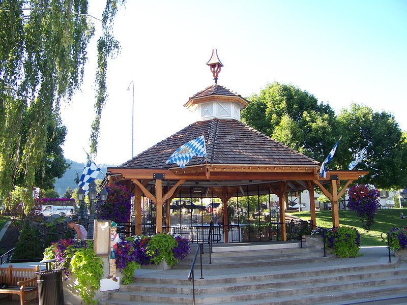 The small park along Front Street includes a gazebo.  There's often live musical acts playing here on the weekends.<br /> [Leavenworth, WA]