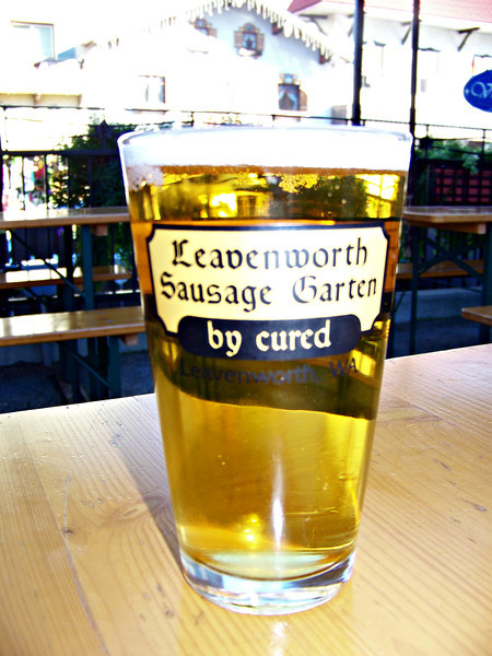 Prosit!  Here's the Hofbräu München Original beer I had with my meal at the Sausage Garten.<br /> [Leavenworth, WA]