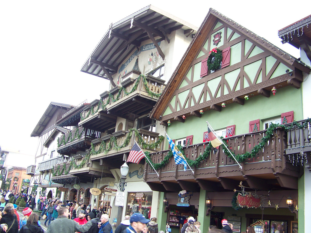 """Some of the stores along Front Street. [Leavenworth, WA - December 2013 - <b><a target=""""_new"""" href=""""http://youtu.be/NqCqDCOY_tc"""">Watch my video here</a></b>]"""