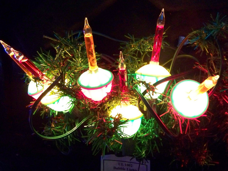 """A string of bubble lights on display at the Kris Kringl Christmas shop. [Leavenworth, WA - December 2013 - <b><a target=""""_new"""" href=""""http://youtu.be/NqCqDCOY_tc"""">Watch my video here</a></b>]"""