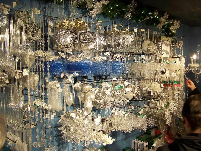 "A wall of crystal ornaments inside the Kris Kringl Christmas shop. [Leavenworth, WA - December 2013 - <b><a target=""_new"" href=""http://youtu.be/NqCqDCOY_tc"">Watch my video here</a></b>]"