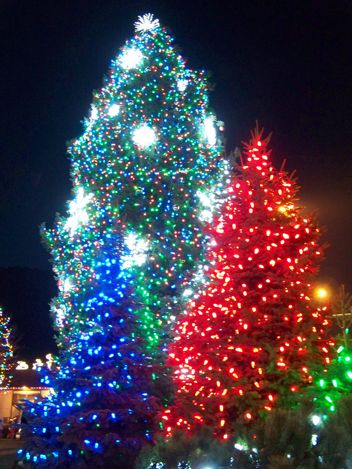 """Christmas lights (taken without the flash). [Leavenworth, WA - December 2013 - <b><a target=""""_new"""" href=""""http://youtu.be/NqCqDCOY_tc"""">Watch my video here</a></b>]"""