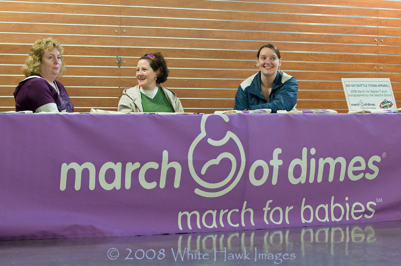 March for Babies event at Seattle Storm game, Key Arena, Seattle WA