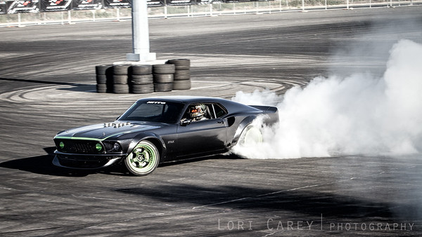 Ford Mustang RTR-X Drifting Demo at Nitto Tire's Auto Enthusiast Day, presented by Driving Line Angel Stadium, CA 1 August 2015