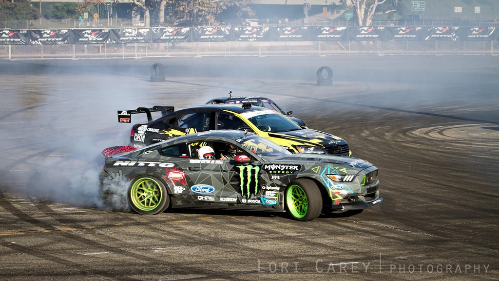 Drifting Demo at Nitto Tire's Auto Enthusiast Day, presented by DrivingLine,<br /> Angel Stadium, CA 1 August 2015