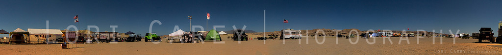 180° degree pano, Operation Desert Fun in moonlight<br /> nine stitched frames