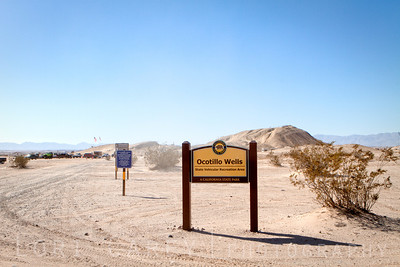 Sign post for Ocotillo Wells State Vehicular Recreation Area