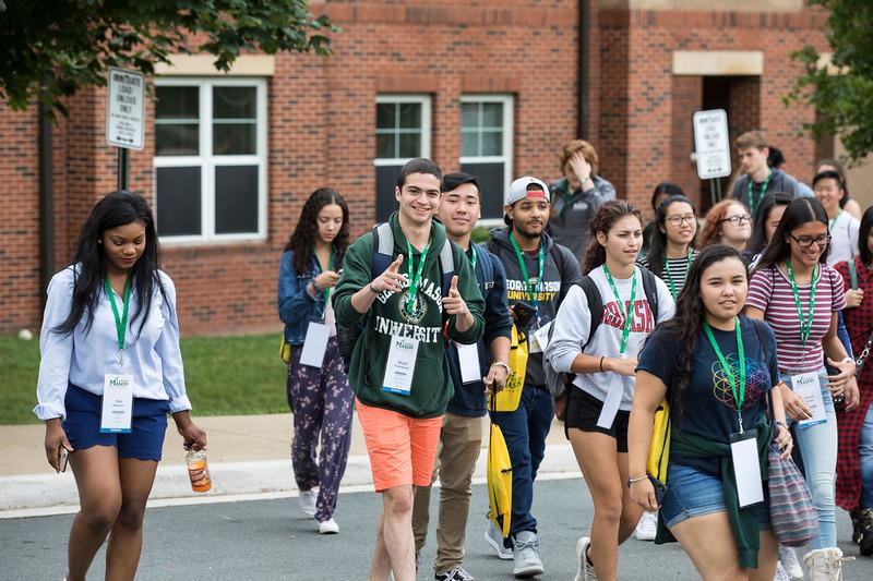 Students attend Freshmen orientation.Photo by:  Ron Aira/Creative Services/George Mason University