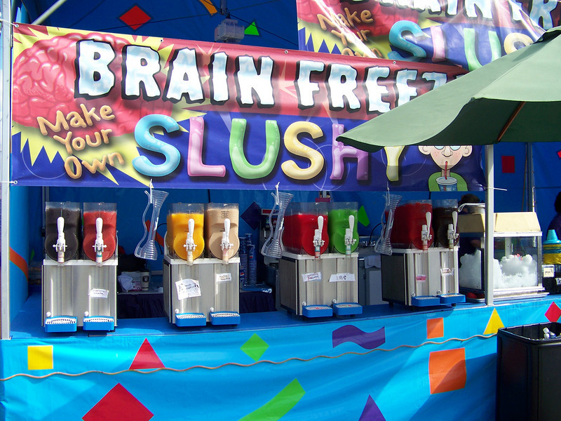 Brain Freeze!  Make your own slushy!<br /> [Puyallup, WA Fair 2009]