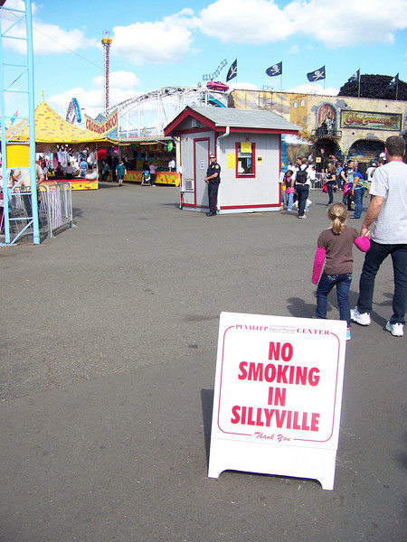 Don't even <b><i>think</i></b> about smoking in Sillyville! [Puyallup, WA Fair 2009]