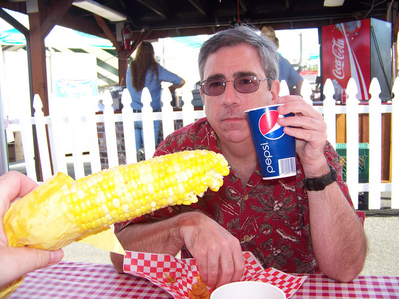 Roasted corn.  Yum!!!<br /> [Puyallup, WA Fair 2009]