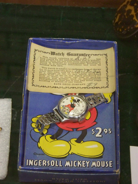 An original Mickey Mouse watch was part of this collection on display in Hobby Hall.<br /> [Puyallup, WA Fair 2009]