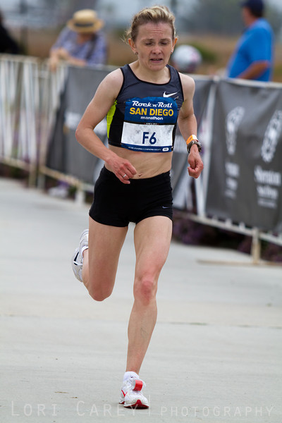 Lyudmila Biktasheva finished 5th in the Womens Elite division of the San Deigo Rock and Roll marathon on June 3, 2012 with a time of 2:34:18