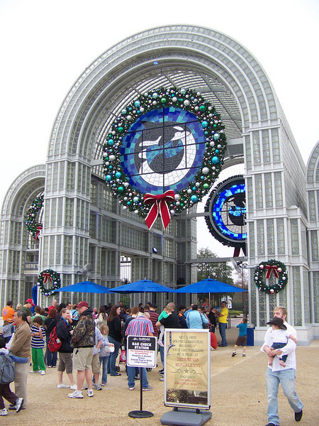The main gates to the park.<br /> [SeaWorld San Antonio]