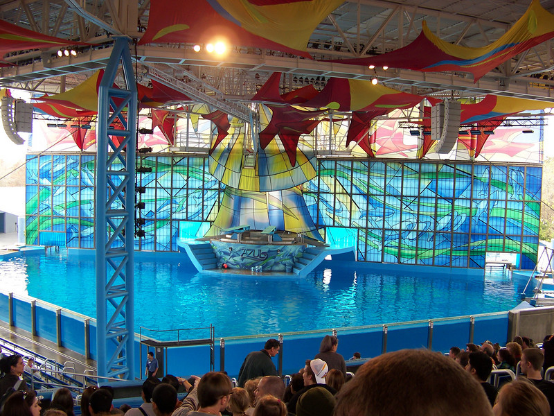The first show I went to was called Azul.  Think of a cross between a dolphin show and Cirque du Soleil.<br /> [SeaWorld San Antonio]