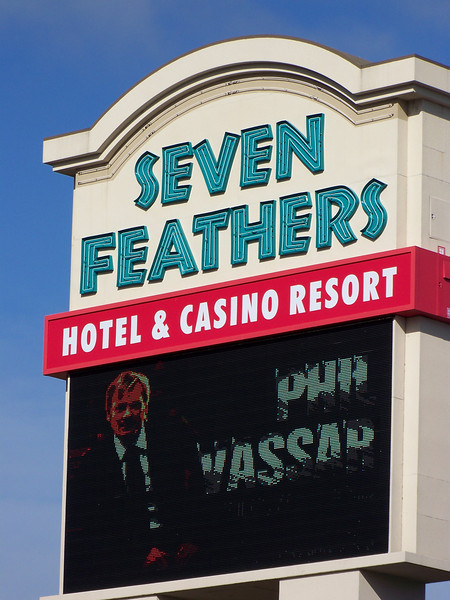 The Seven Feathers Casino is in the tiny town of Canyonville in southern Oregon (about a six-hour drive from Seattle).  We had earlier discovered this place on our way to and from Reno.