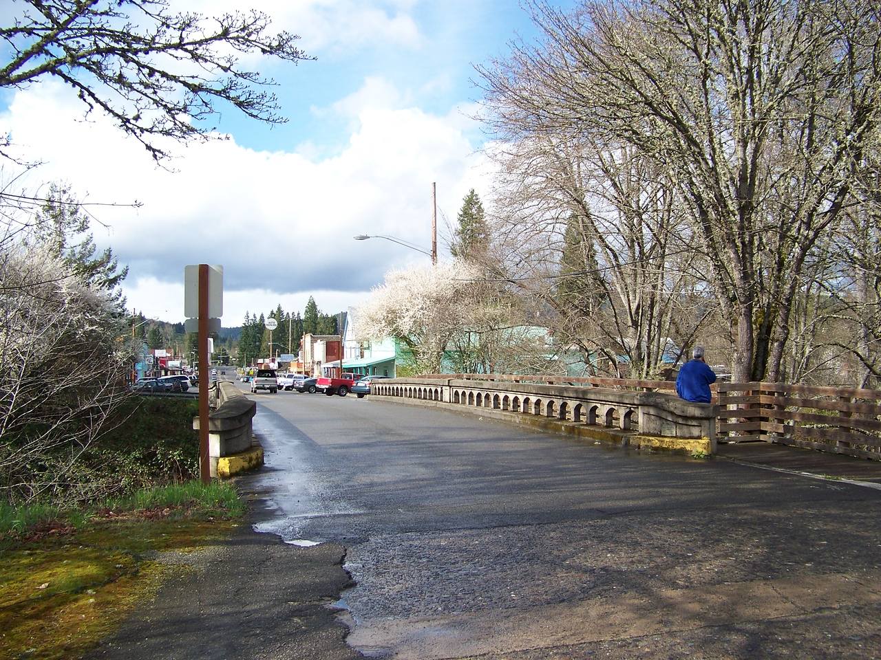 This bridge is south of downtown.<br /> [Canyonville, OR]