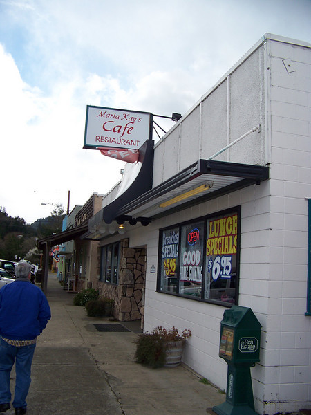 We had a good lunch at Marla Kay's Cafe.<br /> [Canyonville, OR]