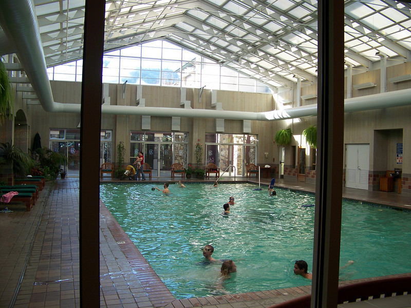 Their indoor swimming pool looks very inviting.  Every time I'm here I think about taking a dip, but I've never done it.<br /> [Seven Feathers Resort in Canyonville, OR]