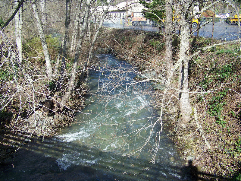According to an online map, this water joins up with the Canyon Creek just downstream of here, and then empties into the much-larger Umpqua River on the outskirts of town.<br /> [Canyonville, OR]