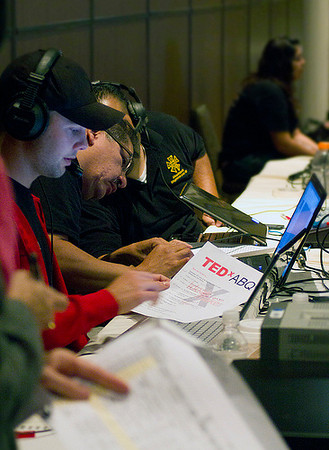 Thanks to a fabulous crew of technical experts the events lights, sound, video and other technical aspects of TEDxABQ went off smoothly.