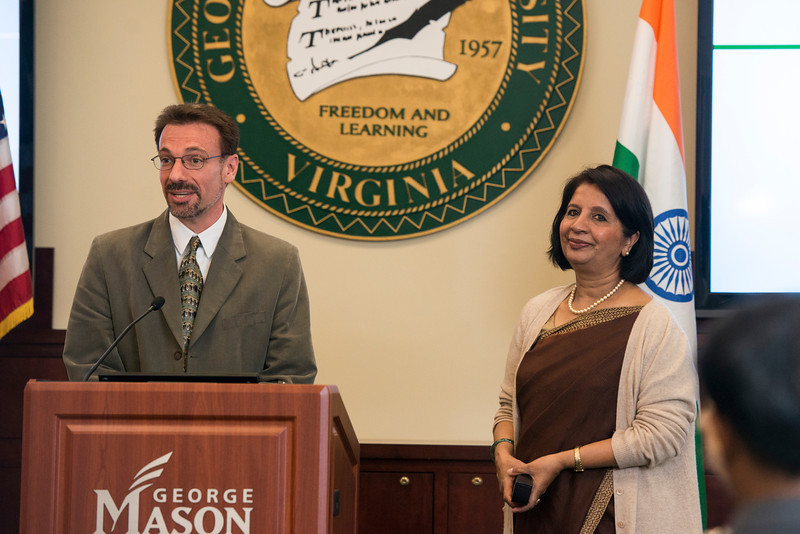 Nirupama Rao, Ambassador of India to the United States, speaks at Mason