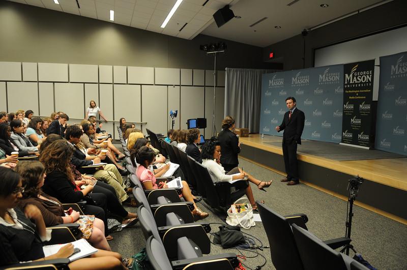 Washington Journalism and Media Conference in Founders Hall on the Arlington Campus.