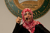 "Mrs. Tawakkol Karaman, winner of 2011 Nobel Peace Prize speaking about the ""Arab Spring-Yemeni focus and the role of Women leadership "" on the Fairfax campus of George Mason University. October 27, 2011"