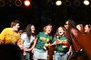 Ziggy Marley is joined on stage by some enthusiastic Mason students during a Mason Day concert.