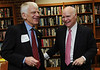 President Alan Merten and Brian Lamb of CSPAN tour the Booknotes collection. Photo by Evan Cantwell.