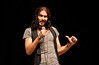 Comedian Russell Brand performs at the Patriot Center on Fairfax Campus.