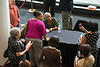 Author Alice Walker greets fans and signs books during a Fall for the Book event at the Center for the Arts at Fairfax campus. Photo by Alexis Glenn/Creative Services/George Mason University