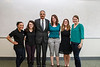 U.S. Attorney General Eric Holder poses with CHSS students during Laurie Robinson's class in University Hall. Photo by Craig Bisacre/Creative Services/George Mason University