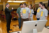 Attorney General Ken Cuccinelli speaks to Mason Game Design students in Dewberry Hall at Fairfax Campus. The students created interactive and educational games aimed at teaching about the risks of joining gangs. Photo by Alexis Glenn/Creative Services/George Mason University