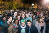 George Mason Students at a 2016 presidential campaign rally on the North Plaza of George Mason University Campus, Fairfax, Virginia.  Photo by:  Ron Aira/Creative Services/George Mason University
