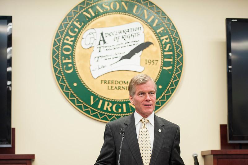 Virginia Governor Bob McDonnell speaks at Mason