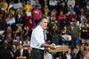 Republican Presidential Candidate Mitt Romney speaks at a campaign rally at the Patriot Center at Fairfax campus. Photo by Alexis Glenn/Creative Services/George Mason University