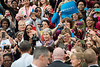 The crowd takes photos of U.S. President Barack Obama after he spoke at a campaign rally at Fairfax campus. Photo by Alexis Glenn/Creative Services/George Mason University