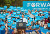 U.S. President Barack Obama speaks at a campaign rally at Fairfax campus. Photo by Alexis Glenn/Creative Services/George Mason University