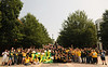 e110901259 - Welcome Week 2011 - Students don their green and gold for National College Colors Day. Photo by Evan Cantwell.