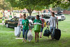 Housing and Residence Life student move-in volunteers help Freshman students and parents unload vehicles during Freshman move-in day in the Shenandoah neighborhood at Fairfax campus. Photo by Alexis Glenn/Creative Services/George Mason University