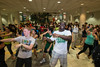 Students dance at the Welcome Week event, Mason Mayhem, inside the Johnson Center. Photo by Alexis Glenn/Creative Services/George Mason University