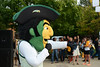The Patriot attending Welcome Week. Photo by Evan Cantwell/Creative Services/George Mason University