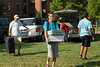 Freshman students and parents unload vehicles during Freshman move-in day in the Shenandoah neighborhood at Fairfax campus. Photo by Alexis Glenn/Creative Services/George Mason University