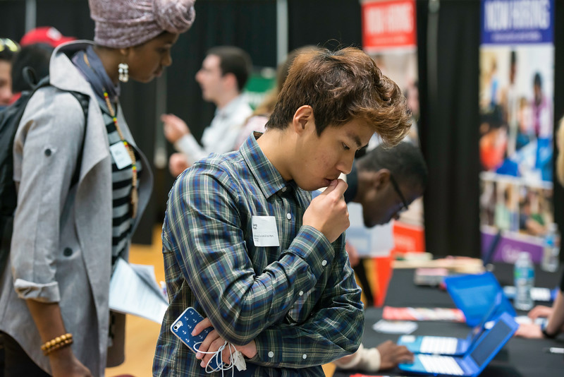 Fall 2016 PT Career Fair.  Photo by:  Ron Aira/Creative Services/George Mason University