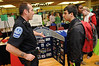 Campus Police booth at the Health and Fitness Expo.  Photo by Evan Cantwell/Creative Services/George Mason University