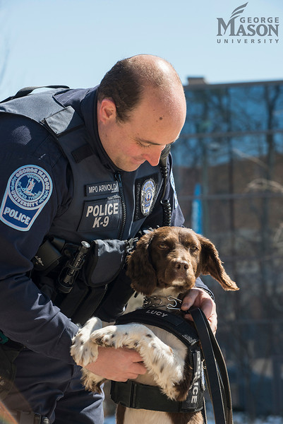 Mason's first K-9 officer Lucy