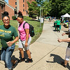 Freshman Move In 2019.  Photo by:  Ron Aira/Creative Services/George Mason University