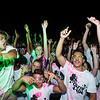 Freshmen attend the dance party in Presidents Park to celebrate the beginning of the 2017-2018 year.  Photo by:  Ron Aira/Creative Services/George Mason University
