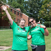 Student volunteers and University Life staff welcome the incoming Class of 2021 on the Fairfax Campus. Photo by Bethany Camp / Creative Services / George Mason University